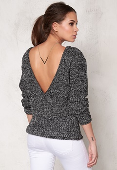 Make Way Savannah Sweater Black / White Bubbleroom.se