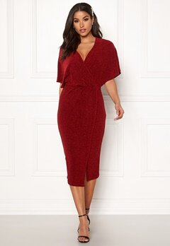 BUBBLEROOM Selena sparkling dress Red / Red Bubbleroom.se