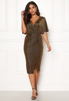 Make Way Selena sparkling dress Black / Gold Bubbleroom.se