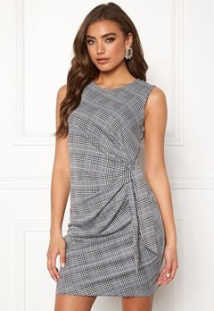 Make Way Sheila dress Grey / Checked / Blue Bubbleroom.se