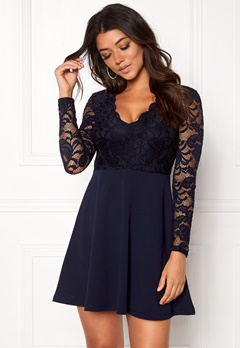 Make Way Shelby Dress Dark blue Bubbleroom.fi