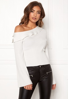Make Way Signe knitted top White Bubbleroom.se