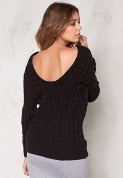 Make Way Signe Sweater Black Bubbleroom.eu