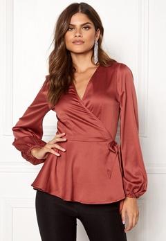 Make Way Smilla blouse Rust Bubbleroom.se