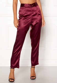 Make Way Tomika trousers Wine-red Bubbleroom.se