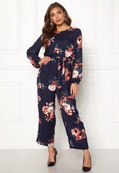 Make Way Valorie jumpsuit Dark blue / Floral Bubbleroom.se