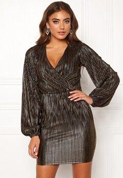 Make Way Ygritte wrap dress Black / Gold Bubbleroom.se