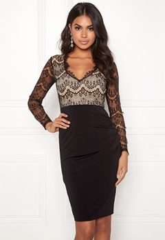 Make Way Yveine dress Black / Beige Bubbleroom.se