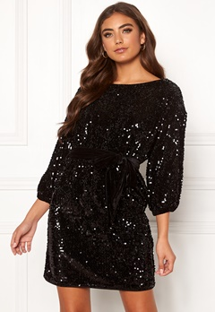 Make Way Lettina sequin dress Black Bubbleroom.se