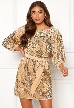 Make Way Lettina sequin dress Gold-coloured Bubbleroom.se