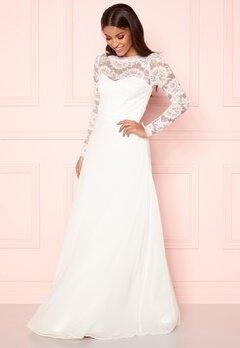 vita klänningar lång ärm