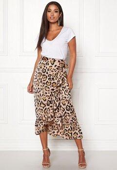ONLY Malou Wrap Skirt Black/Leo Bubbleroom.se
