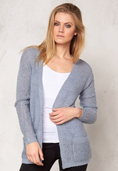 b.young Manus cardigan Chambray blue Bubbleroom.se