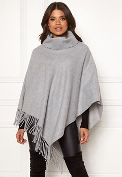 OBJECT Marilyn Wool Poncho Light Grey Melange Bubbleroom.se