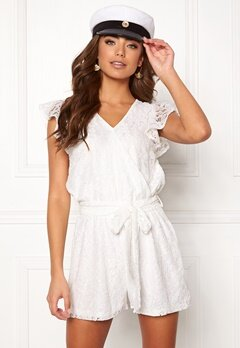 f5dd485b1ef7 DRY LAKE Megan Playsuit White Lace Bubbleroom.se