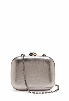 Menbur Metallic Clutch Taupe Bubbleroom.se