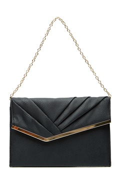 New Look Meredith Rouched Clutch Black Bubbleroom.no