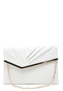 New Look Meredith Rouched Clutch White Bubbleroom.no