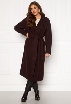 VERO MODA Merlemay Long Jacket Chocolate Plum Bubbleroom.se