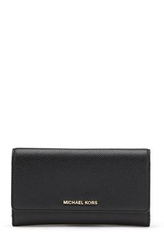 Michael Michael Kors Large 3 Folder Wallet 001 Black Bubbleroom.se