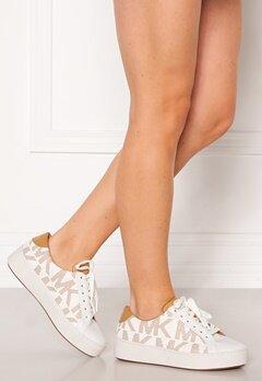 Michael Michael Kors Poppy Lace Up Sneakers Shiny White/Peanut Bubbleroom.se