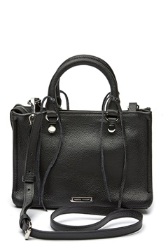 Rebecca Minkoff Micro Regan Satchel Tote 001 Black/Silver Bubbleroom.se
