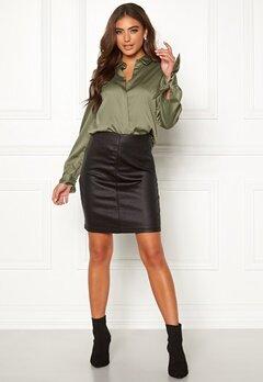 Moa Mattsson X Bubbleroom Coated skirt Black Bubbleroom.se