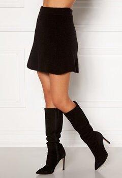 Moa Mattsson X Bubbleroom Knitted short skirt Black Bubbleroom.se