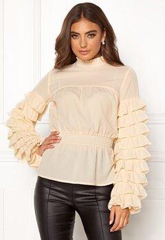 Moa Mattsson X Bubbleroom Ruffle blouse Cream Bubbleroom.se