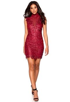 Model Behaviour Olivia Dress Red Bubbleroom.dk