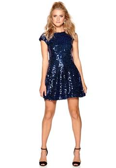 Model Behaviour Saga Dress Blue Bubbleroom.no