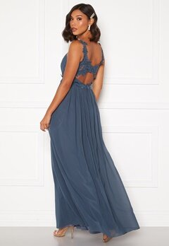 Moments New York Afrodite Chiffon Gown Blue Bubbleroom.se