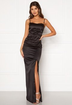 Moments New York Alda Strap Gown Black Bubbleroom.se