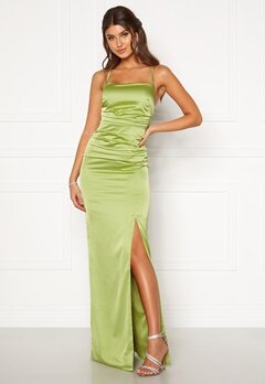Moments New York Alda Strap Gown Green Bubbleroom.se