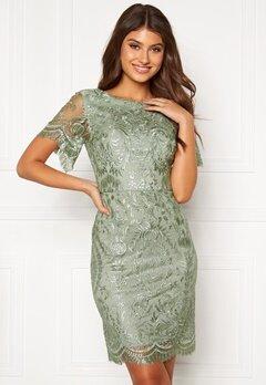 Moments New York Alexandra Beaded Dress Light green Bubbleroom.se