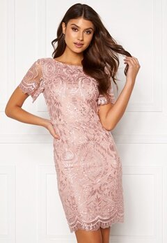 Moments New York Alexandra Beaded Dress Pink Bubbleroom.se