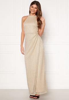 Moments New York Alice Lurex Gown Gold-coloured Bubbleroom.se