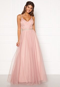 Moments New York Anessa Sparkle Gown Light pink Bubbleroom.se