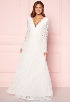 Moments New York Antoinette Wedding Gown White Bubbleroom.se