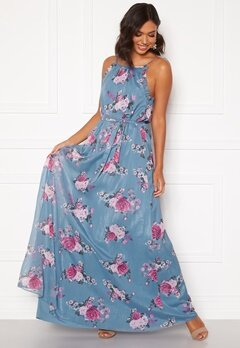 Moments New York Aster Chiffon Gown Floral Bubbleroom.se