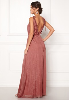 Moments New York Aster Chiffon Gown Old rose Bubbleroom.se