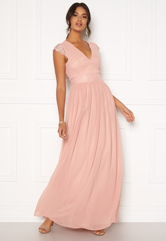 Moments New York Athena Chiffon Gown Dusty pink Bubbleroom.se