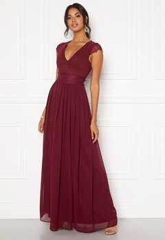 Moments New York Athena Chiffon Gown Wine-red Bubbleroom.se