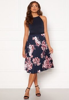 Moments New York Aurora Print Dress Navy Bubbleroom.se