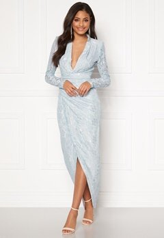 Moments New York Becca Lace Gown Light blue Bubbleroom.se