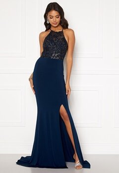 Moments New York Bella Sparkle Gown Navy Bubbleroom.se