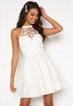 Moments New York Bianca Skater Dress White Bubbleroom.se