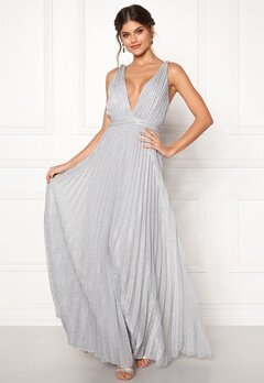 Moments New York Bryony Lurex Gown Silver coloured Bubbleroom.se