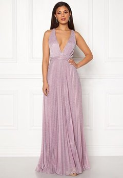 Moments New York Bryony Lurex Gown Light pink / Silver Bubbleroom.se