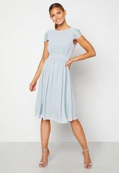 Moments New York Camellia Chiffon Dress Grey-blue Bubbleroom.se